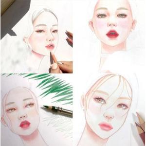 韓国語 ぬりえ本 『少女の時間 カラーリングブック - 視線を釘付け 魅力的な少女 40』 著:イ・ヒョンミ|niyantarose|03