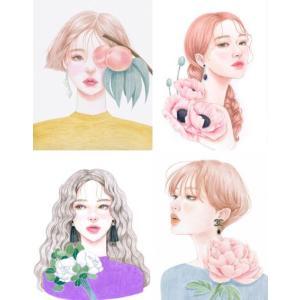 韓国語 ぬりえ本 『少女の時間 カラーリングブック - 視線を釘付け 魅力的な少女 40』 著:イ・ヒョンミ|niyantarose|04