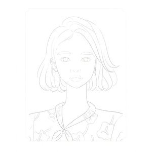 韓国語 ぬりえ本 『少女の時間 カラーリングブック - 視線を釘付け 魅力的な少女 40』 著:イ・ヒョンミ|niyantarose|10