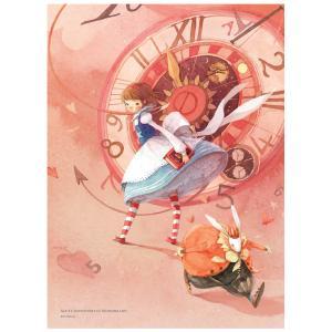 ふしぎの国のアリス イラストパズル 500ピース ピンク 380×520mm (絵:キム・ミンジ) puzzle ALICE IN WONDERLAND|niyantarose