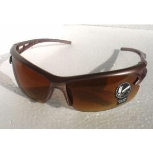 スポーツ サングラス 超軽量 UV400 紫外線カット ブラウン 輸入品|niyantarose