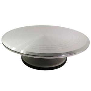 軽くて長持ち プロ仕様 アルミ製 ターンテーブル 回転台 直径31cm TNT-2 ナッペ台 ケーキ台 デコレーション、フラワーケーキ、各種製菓に(韓国輸入品)|niyantarose
