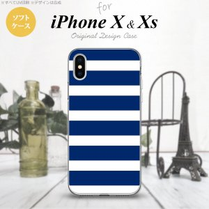 iPhoneX スマホケース カバー アイフォンX ボーダー...