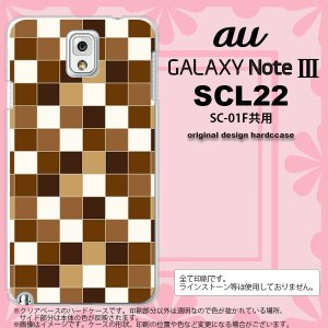GALAXY Note 3 スマホカバー GALAXY Note 3 SCL22 ケース ギャラクシー ノート 3 スクエア 茶 nk-scl22-1021