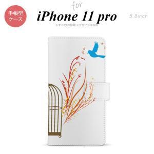 iPhone11pro 手帳型スマホケース カバー 青い鳥 赤  +:-:+:-:+:-:+:-:+...