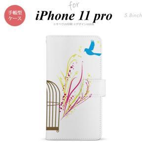 iPhone11pro 手帳型スマホケース カバー 青い鳥 赤 黄  +:-:+:-:+:-:+:-...