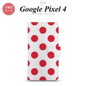 Google Pixel 4 手帳型 スマホケース カバー ドット 水玉 赤 nk-004s-px4-dr003|nk117