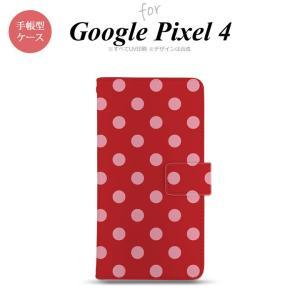 Google Pixel 4 手帳型 スマホケース カバー ドット 水玉 赤 nk-004s-px4-dr838|nk117