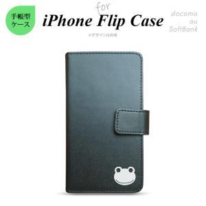iPhone 対応 手帳型スマホケース iPhoneX iPhone8 iPhone7 6s SE 5s 他 アイフォン 主要機種対応 かえる顔 ブラック nk-015-ip-p172|nk117