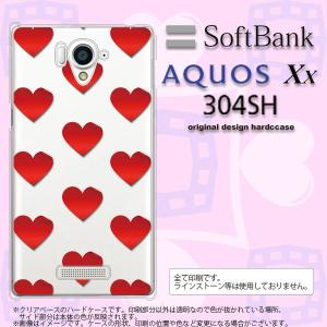 304SH スマホカバー AQUOS Xx 304SH ケース アクオス Xx ハート 赤 nk-304sh-017|nk117