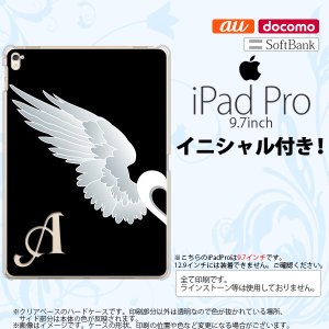 iPad Pro スマホケース カバー アイパッド プロ イニシャル 翼(ペア) 黒(左) nk-ipadpro-477ini|nk117