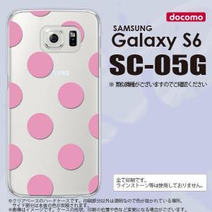 SC05G スマホケース Galaxy S6 SC-05G カバー ギャラクシー S6 ドット・水玉 ピンク nk-sc05g-004|nk117