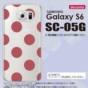 SC05G スマホケース Galaxy S6 SC-05G カバー ギャラクシー S6 ドット・水玉 サーモンピンク nk-sc05g-009|nk117
