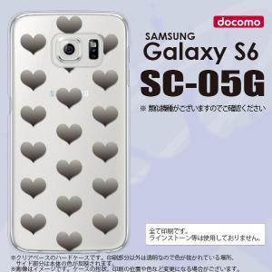 SC05G スマホケース Galaxy S6 SC-05G カバー ギャラクシー S6 ハート グレー nk-sc05g-016|nk117