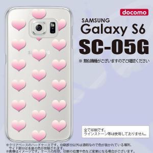 SC05G スマホケース Galaxy S6 SC-05G カバー ギャラクシー S6 ハート ピンク nk-sc05g-018|nk117