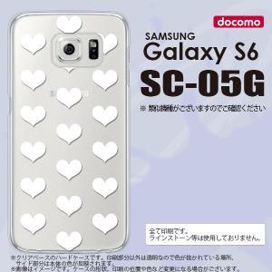 SC05G スマホケース Galaxy S6 SC-05G カバー ギャラクシー S6 ハート 白 nk-sc05g-019|nk117