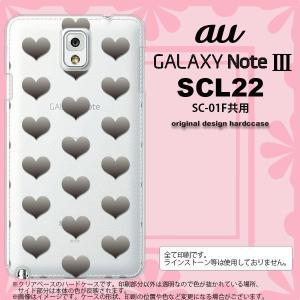 GALAXY Note 3 スマホカバー GALAXY Note 3 SCL22 ケース ギャラクシー ノート 3 ハート グレー nk-scl22-016|nk117