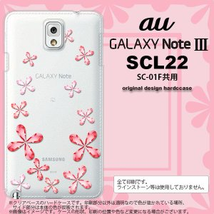 GALAXY Note 3 スマホカバー GALAXY Note 3 SCL22 ケース ギャラクシー ノート 3 花柄 赤 nk-scl22-806