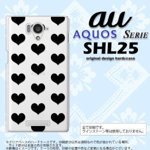 SHL25 スマホカバー AQUOS SERIE SHL25 ケース アクオス セリエ ハート 黒 nk-shl25-015|nk117