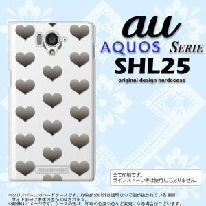 SHL25 スマホカバー AQUOS SERIE SHL25 ケース アクオス セリエ ハート グレー nk-shl25-016|nk117