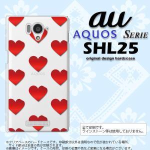 SHL25 スマホカバー AQUOS SERIE SHL25 ケース アクオス セリエ ハート 赤 nk-shl25-017|nk117