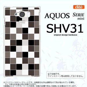 SHV31 スマホケース AQUOS SERIE MINI SHV31 カバー アクオス セリエ ミニ スクエア グレー nk-shv31-1016|nk117