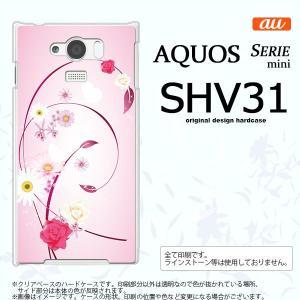 SHV31 スマホケース AQUOS SERIE MINI SHV31 カバー アクオス セリエ ミニ 花柄・ミックス ピンク nk-shv31-273|nk117