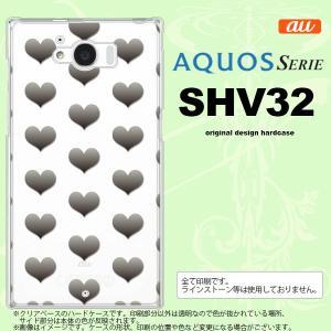 SHV32 スマホケース AQUOS SERIE SHV32 カバー アクオス セリエ ハート グレー nk-shv32-016|nk117