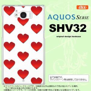 SHV32 スマホケース AQUOS SERIE SHV32 カバー アクオス セリエ ハート 赤 nk-shv32-017|nk117