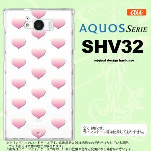 SHV32 スマホケース AQUOS SERIE SHV32 カバー アクオス セリエ ハート ピンク nk-shv32-018|nk117