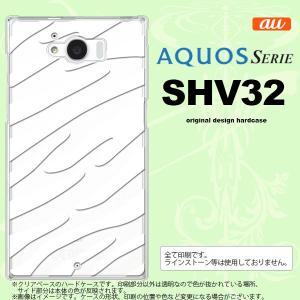 SHV32 スマホケース AQUOS SERIE SHV32 カバー アクオス セリエ ゼブラ 白 nk-shv32-024|nk117