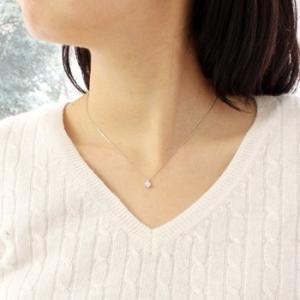 ネックレス 0.3ct プラチナ ダイヤモンドネックレス 6つ立爪 受注生産|nkj-s