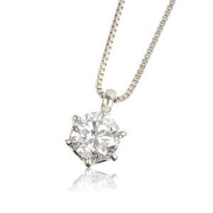 ネックレス 0.3ct プラチナ ダイヤモンドネックレス 6つ立爪 受注生産|nkj-s|02