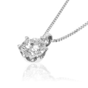 ネックレス 0.3ct プラチナ ダイヤモンドネックレス 6つ立爪 受注生産|nkj-s|03
