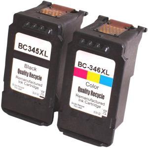 BC-345XL BC-346XL対応リサイクルインク ブラック+カラー2個セット 残量表示OK キ...