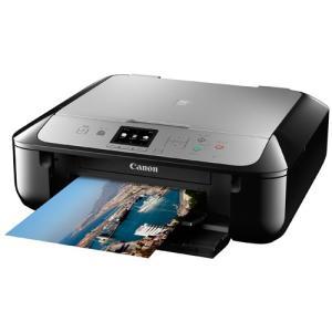 Canon A4インクジェット複合機[無線LAN USB2.0] PIXUS MG5730BS<ブラックシルバー>