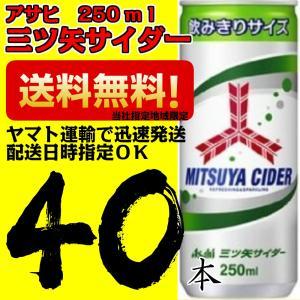 アサヒ 三ツ矢サイダー250ml 20本×2ケース 40本