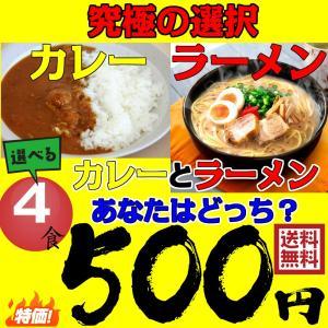 カレー ラーメン 選べる 4食 送料無料 メール便 最安値 ...