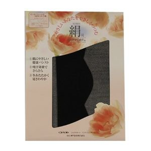神戸生絲 シルクサポート パンティストッキング ブラック(Mサイズ)|nm-asteria