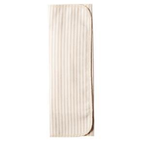 メイド・イン・アース  三つ折り 布ナプキン ストライプ ×起毛/茶(薄手) nm-asteria