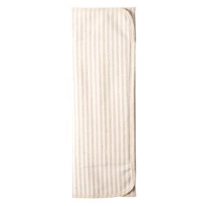 メイド・イン・アース  三つ折り 布ナプキン ストライプ  茶(厚手) nm-asteria