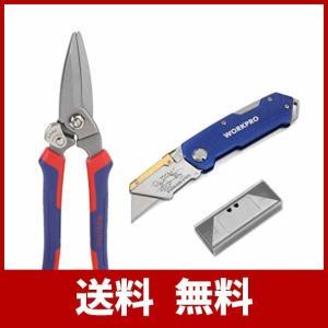 万能はさみ:刃の材質は60Crvで、硬さ:HRC56~HRC62。鋏を閉じてロック付いています。手に...
