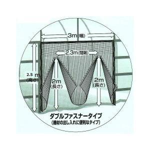 防虫つまネット 1mm目 ダブルファスナー 3×2.5m nns