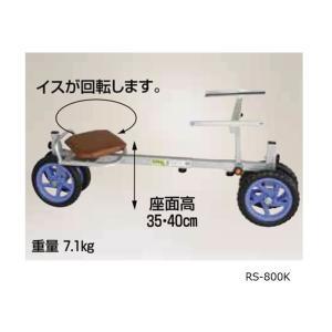 ラクエモン RS-800K アルミ製 いちご収穫用幅狭台車|nns