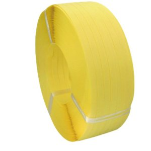 PPバンド 幅15.5mm×長さ1000m 黄