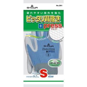 作業用手袋 ピッタリ背抜きプレス S|nns