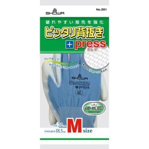 作業用手袋 ピッタリ背抜きプレス M|nns