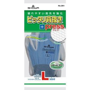 作業用手袋 ピッタリ背抜きプレス L|nns
