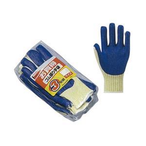 作業用手袋 ゴム張り手袋 3双xフリー|nns