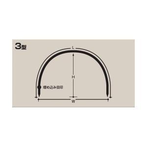 トンネル栽培用 セキスイ トンネル支柱 3型 口径11mm×高さ86cmx幅120cm×長さ240cm 50本 nns